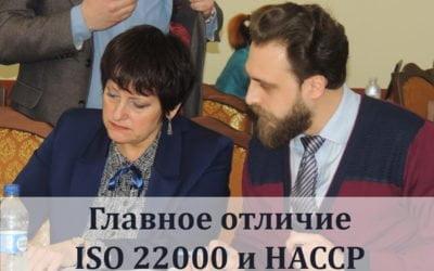 Головна відмінність ISO 22000 та HACCP